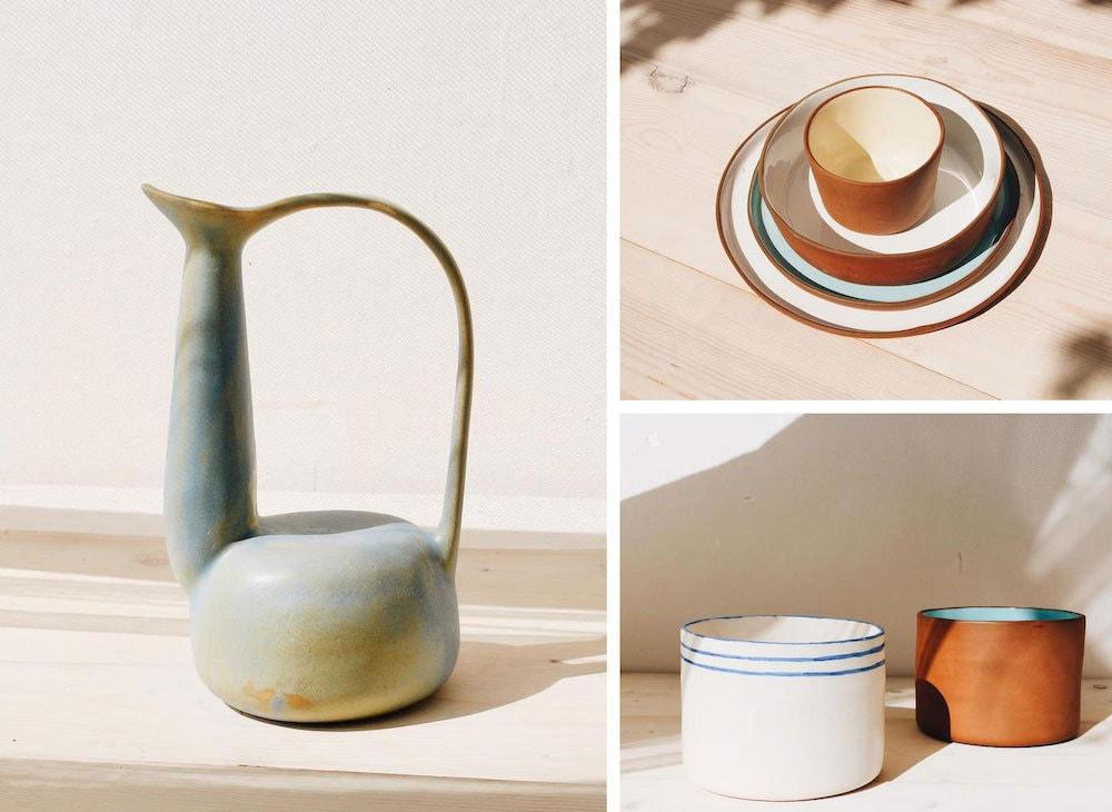 Assorted ceramic home goods from Epalladio Ceramics
