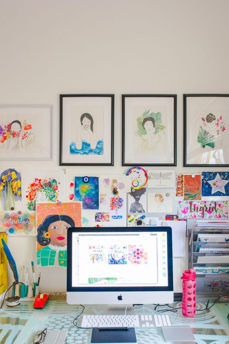 Ingrid's workstation
