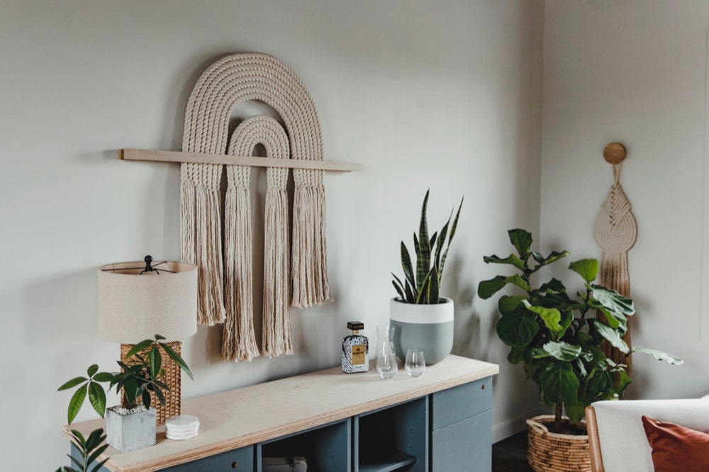 """An extra-large """"Flow"""" kimono-cut macrame wall-hanging from Candice Luter"""