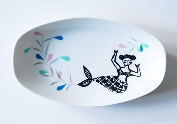 etsy-gifts-for-her-mermaid-plate