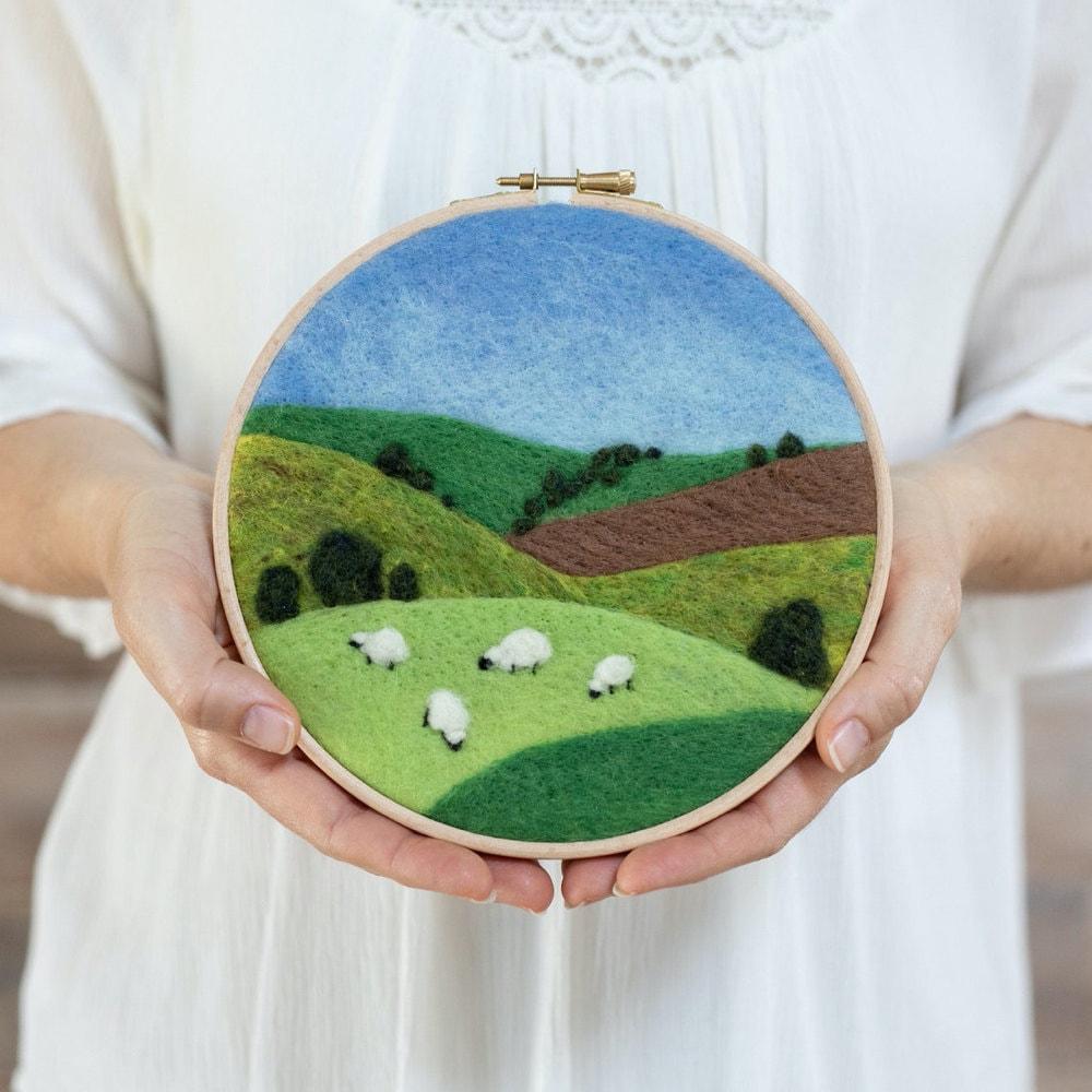 Grazing Sheep needle felting kit from Felted Sky