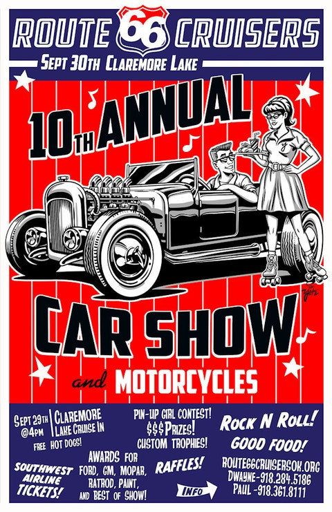Events AnPJewelryDesigns - Route 66 cruisers car show list