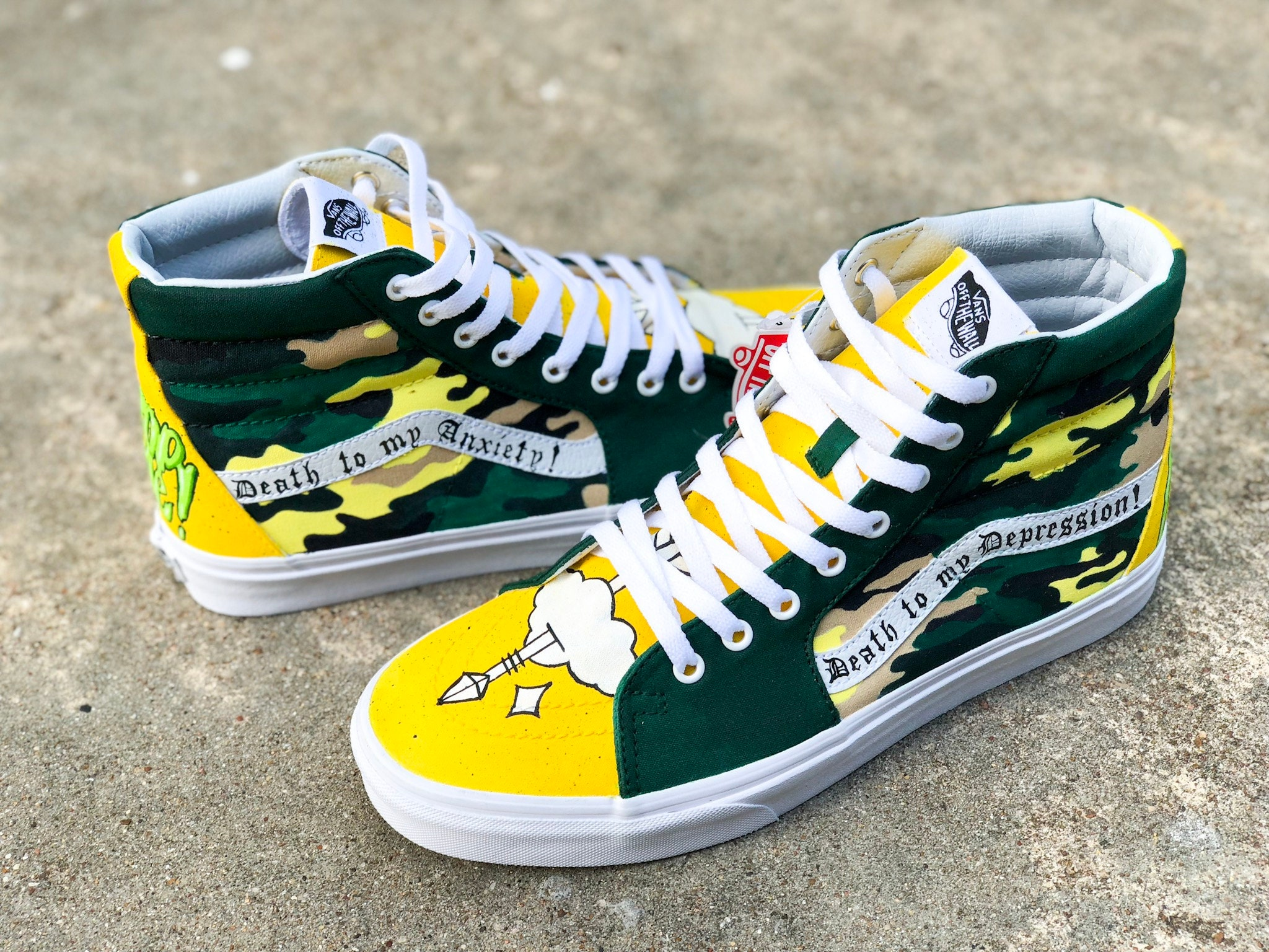 9c655c70b244e Andy Mineo 116/Miner League Custom Vans Sk8His made specifically for Andy  Mineo