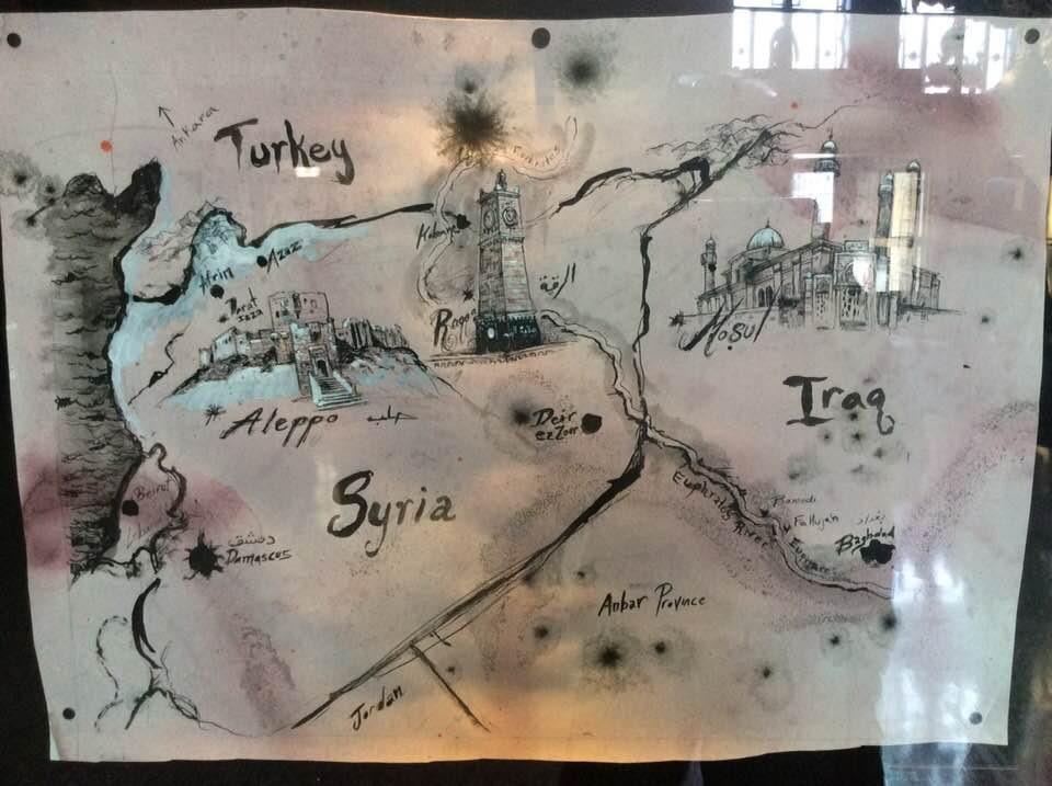 arabian history map sketch