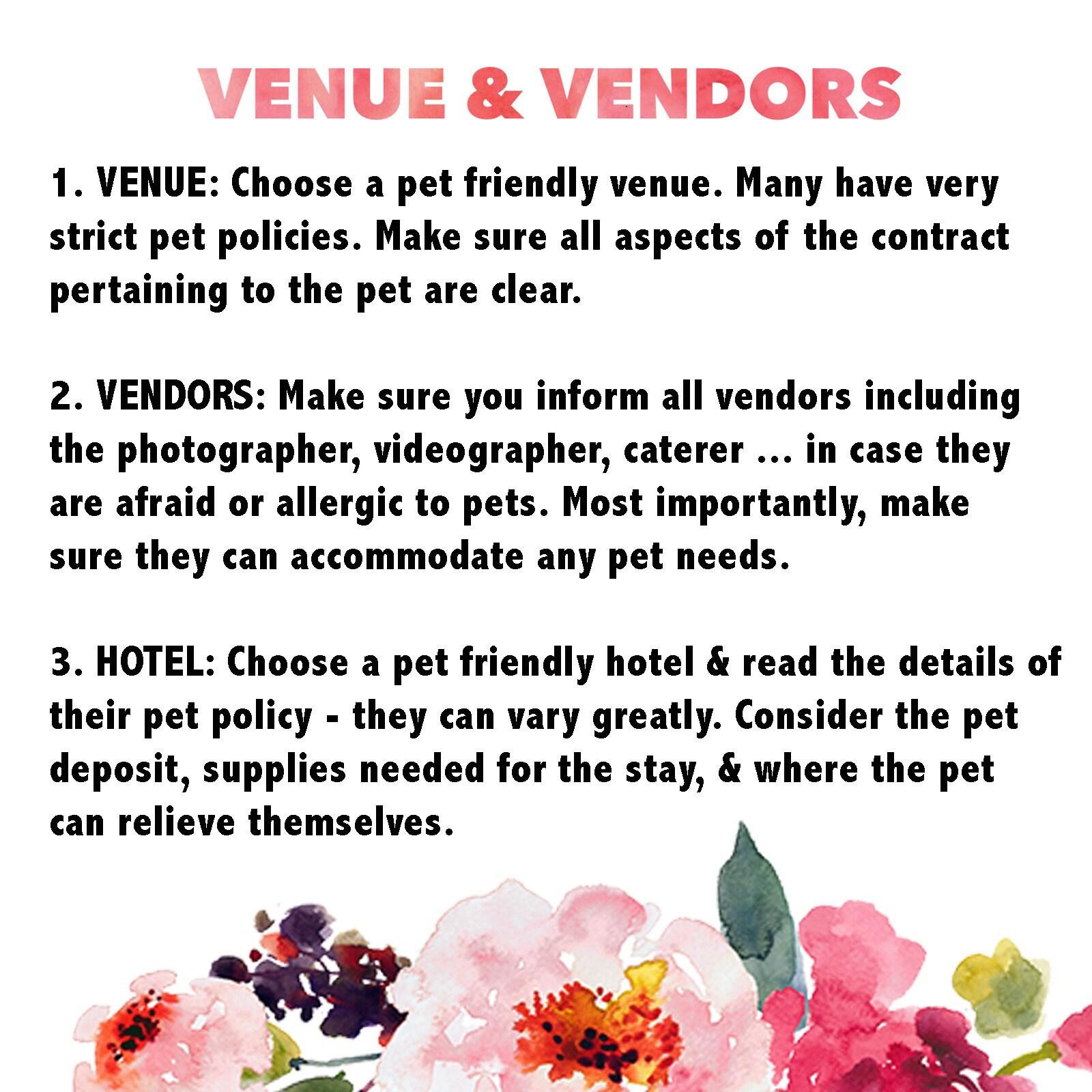 Venue & Vendors