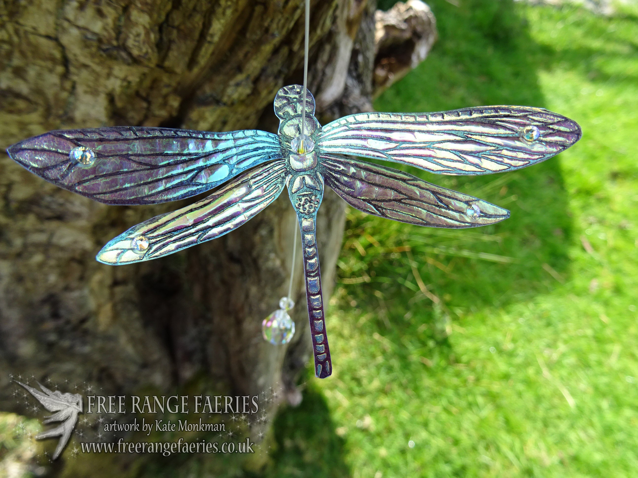 Iridescent Dragonfly Suncatcher