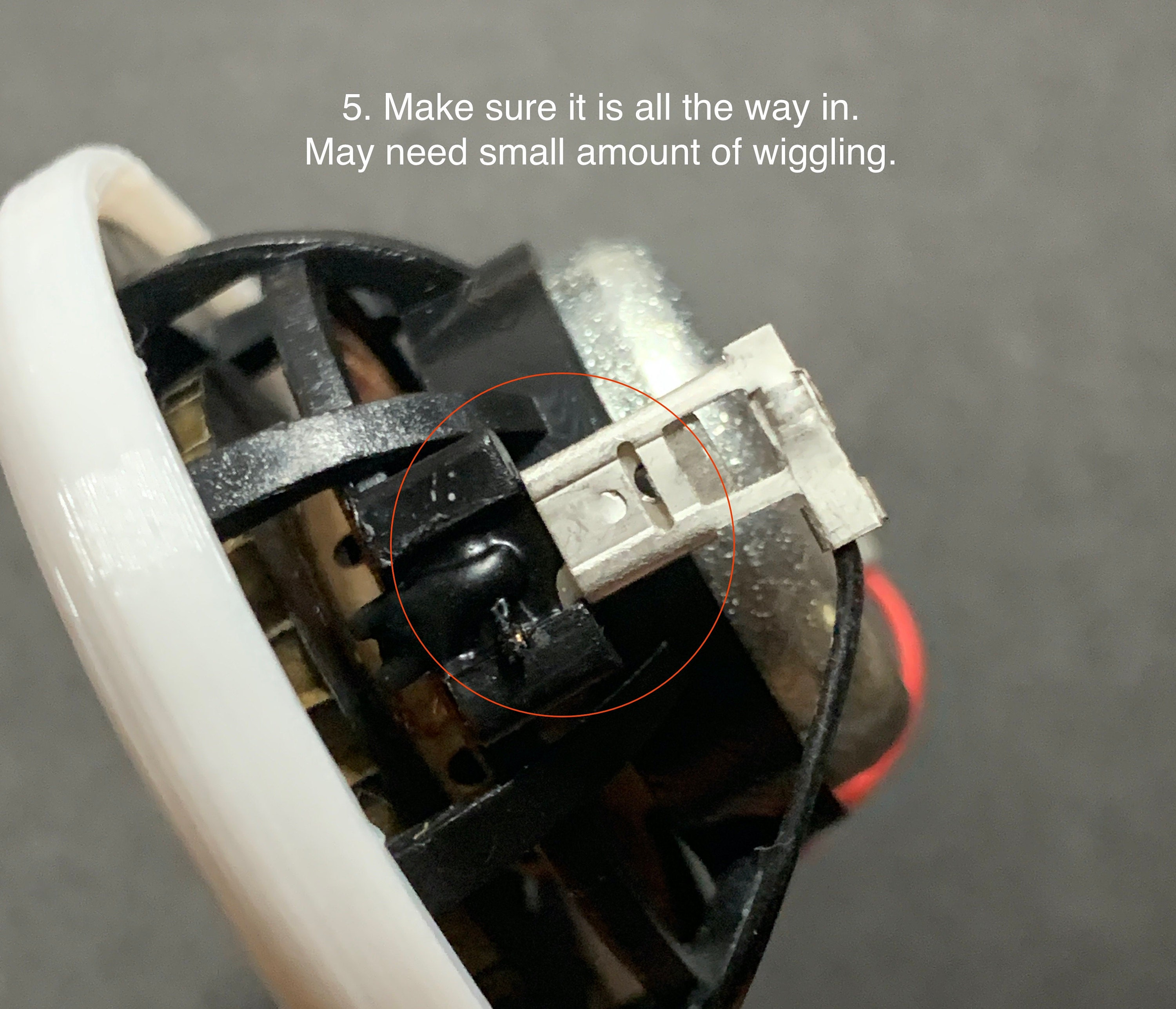 5. Make sure it is all the way in. May need small amount of wiggling.