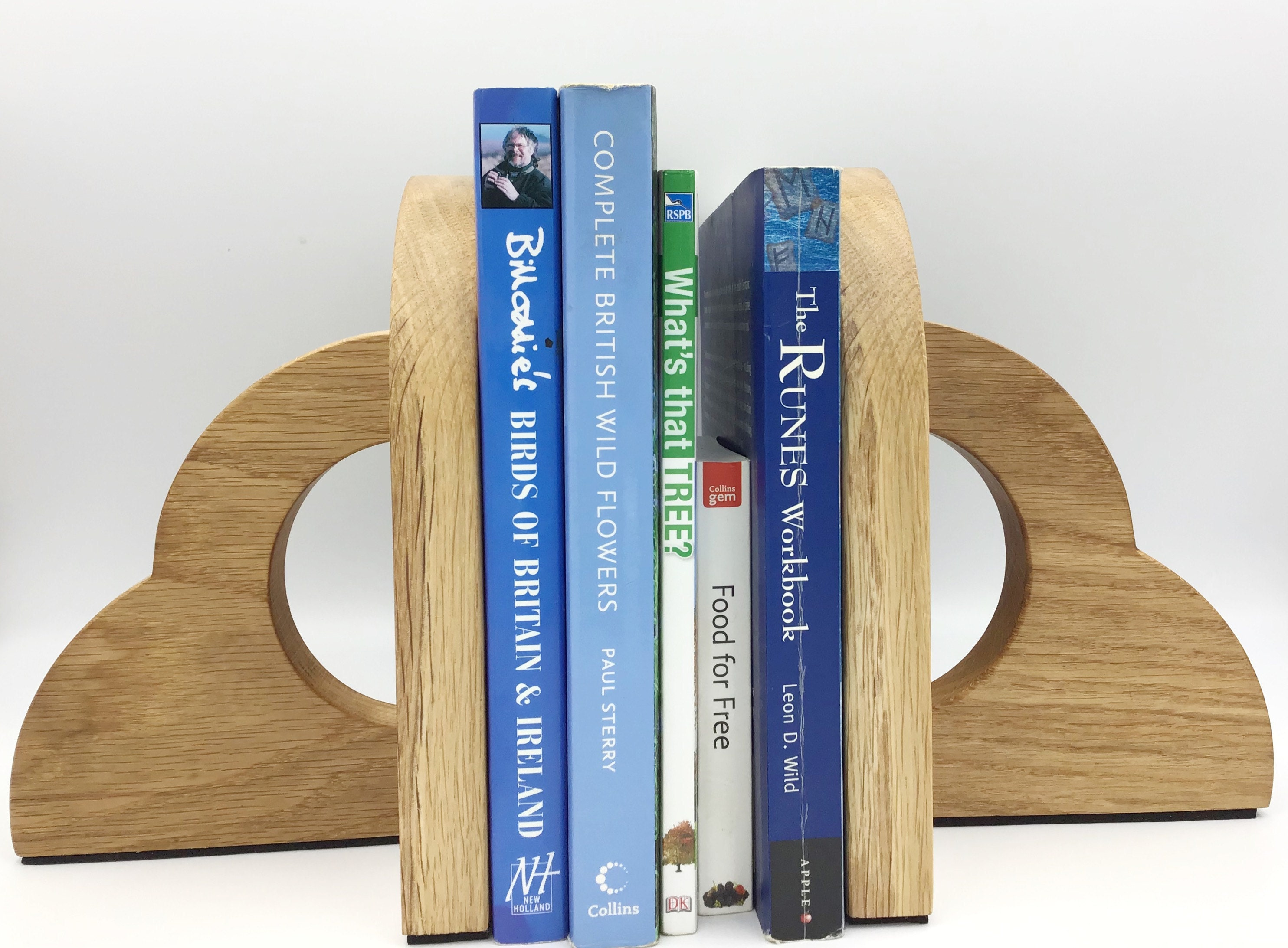 Light Oak wood Bookends - handmade in West Wales UK by gorlech