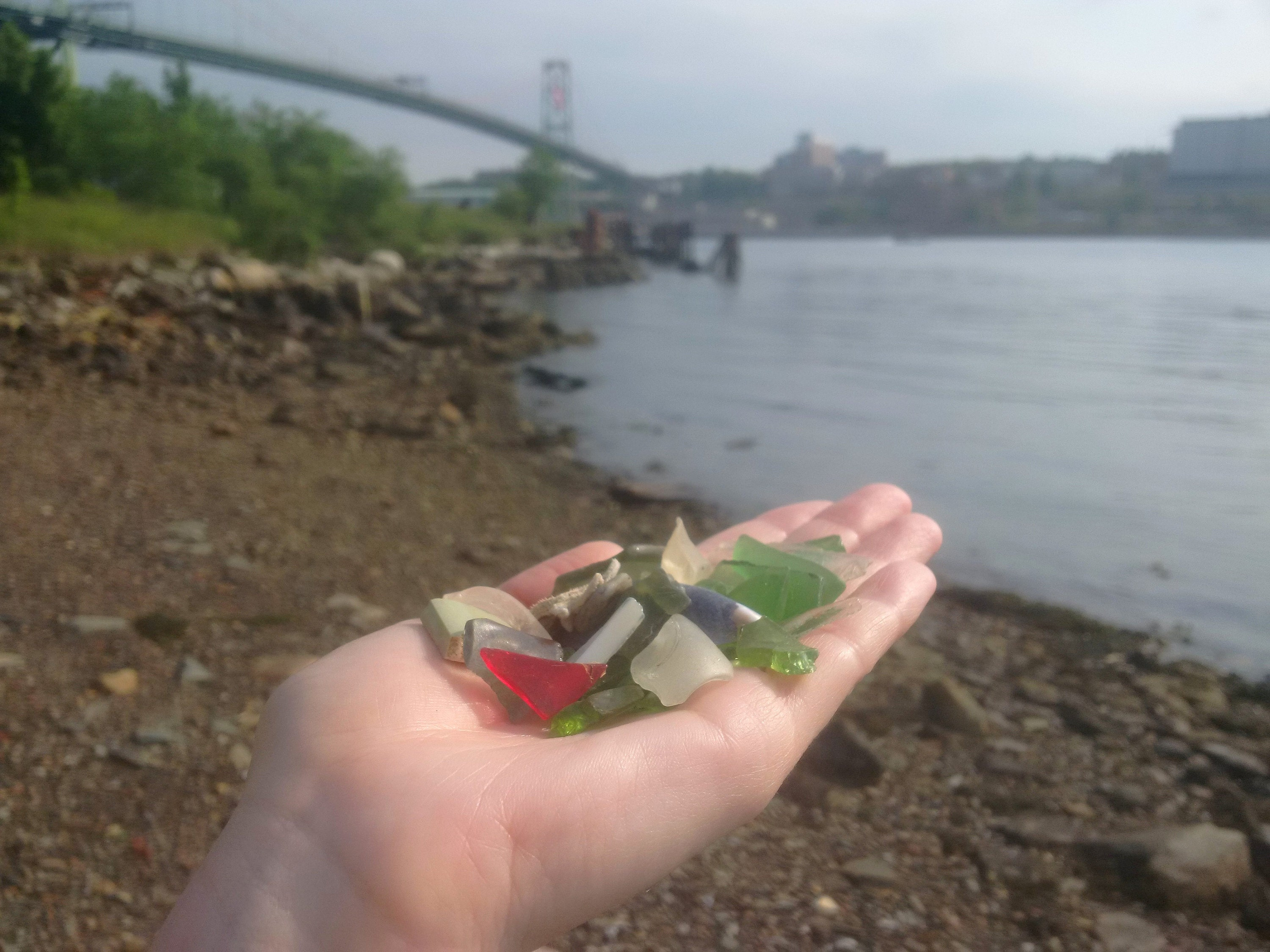 sea glass hunting in Halifax Nova Scotia