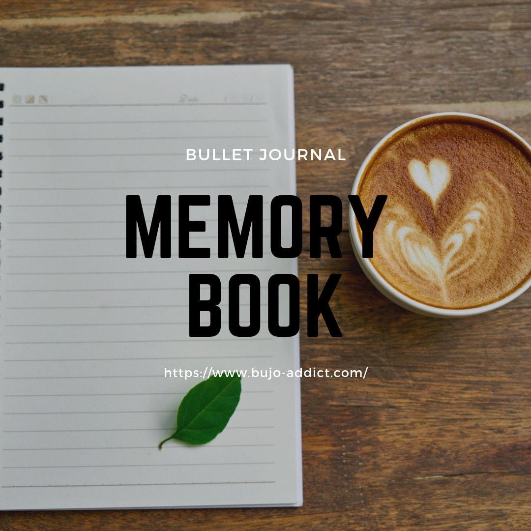 memory book, bullet journal, bujo rando, bujo addict,
