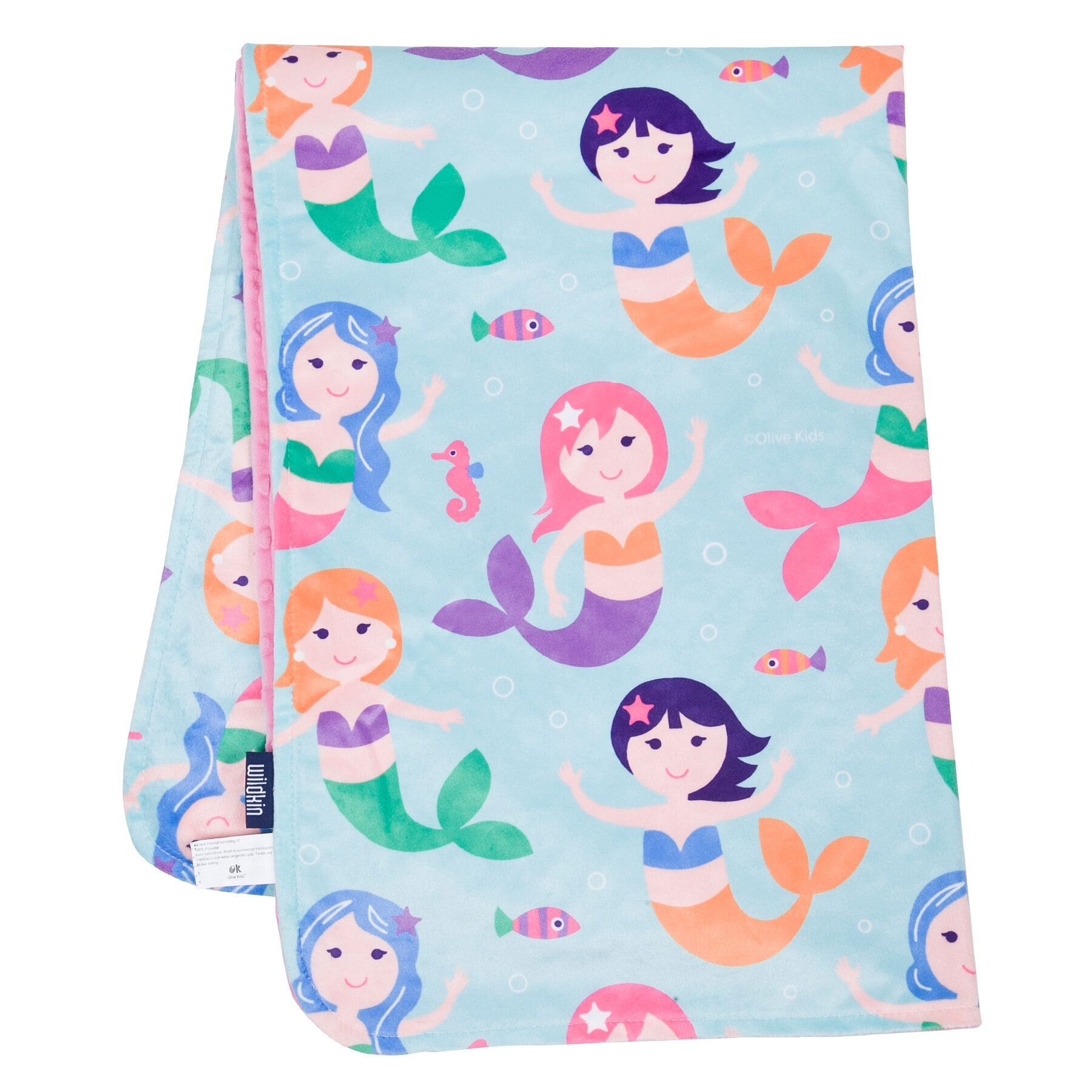 Mermaid Plush Baby Blanket