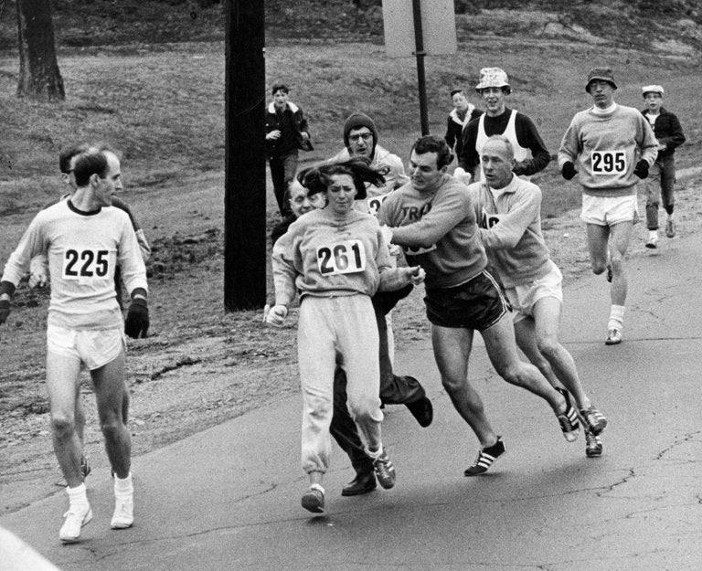 Kathrine Switzer at Boston Marathon