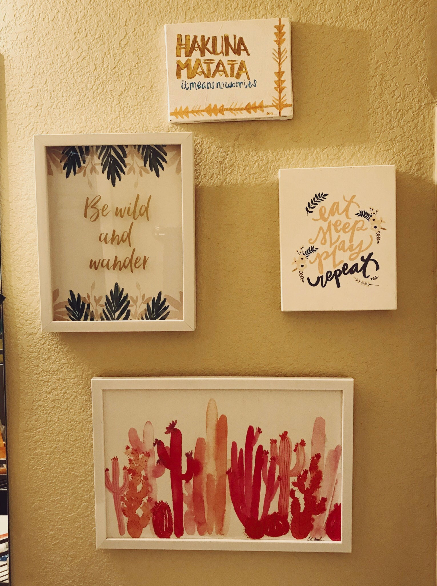Wall art from Hobby Lobby using the 40% off coupons