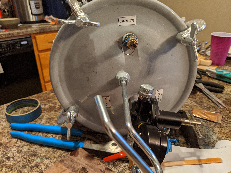 convert a harbor freight pressure pot