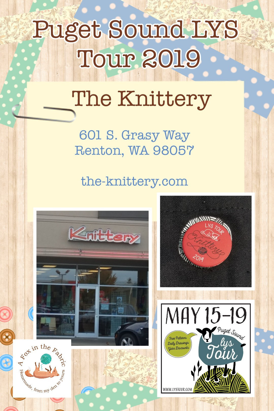 Puget Sound LYS Tour 2019 The Knittery