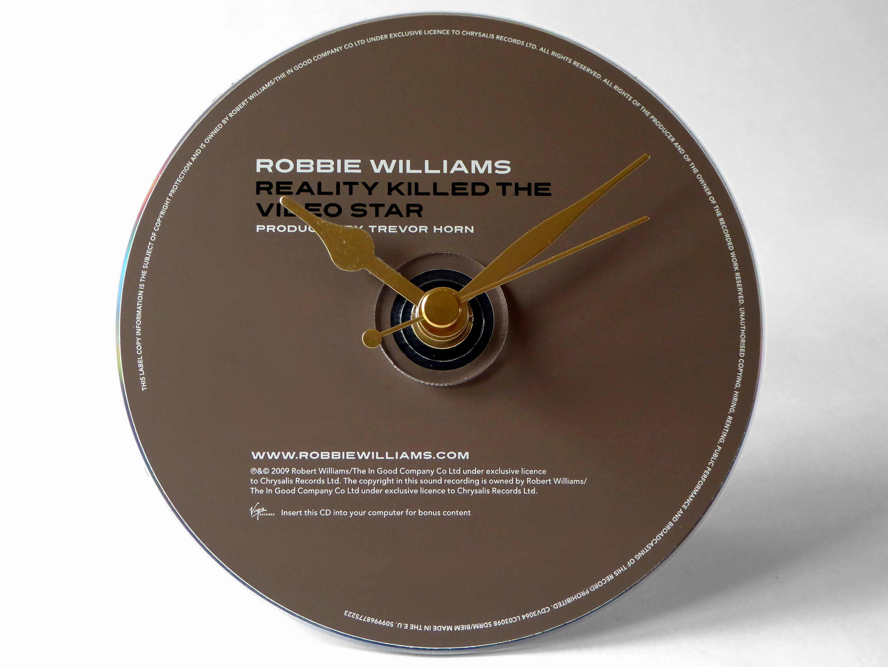 Robbie Williams Reality Killed The Video Star CD Clock and Keyring Gift Set