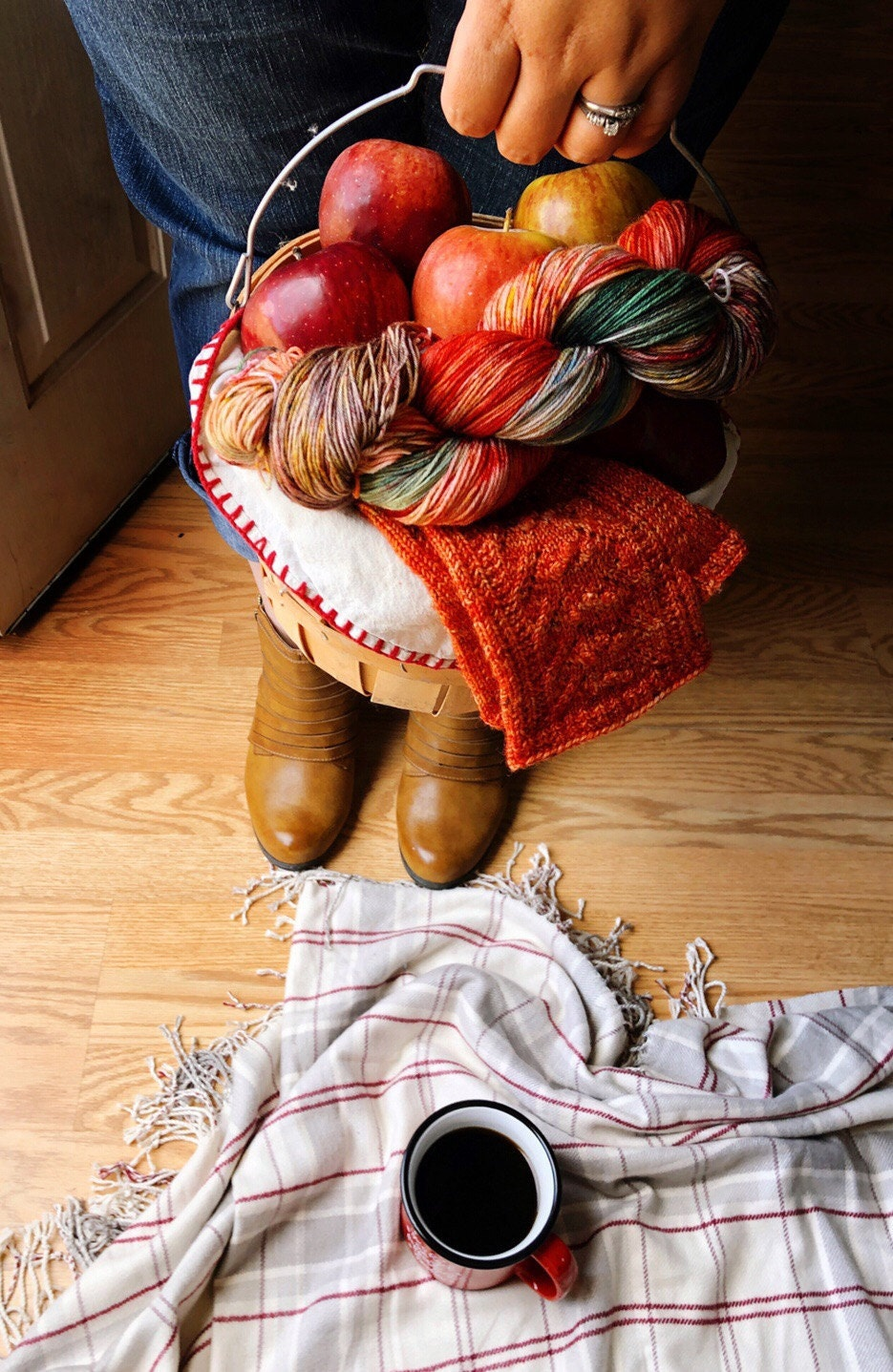 Apple picking, bonfires, boots, jeans, yarn and more yarn