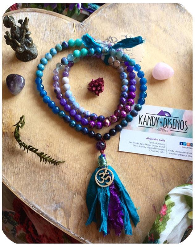 mystical child japa mala necklace by kandy disenos