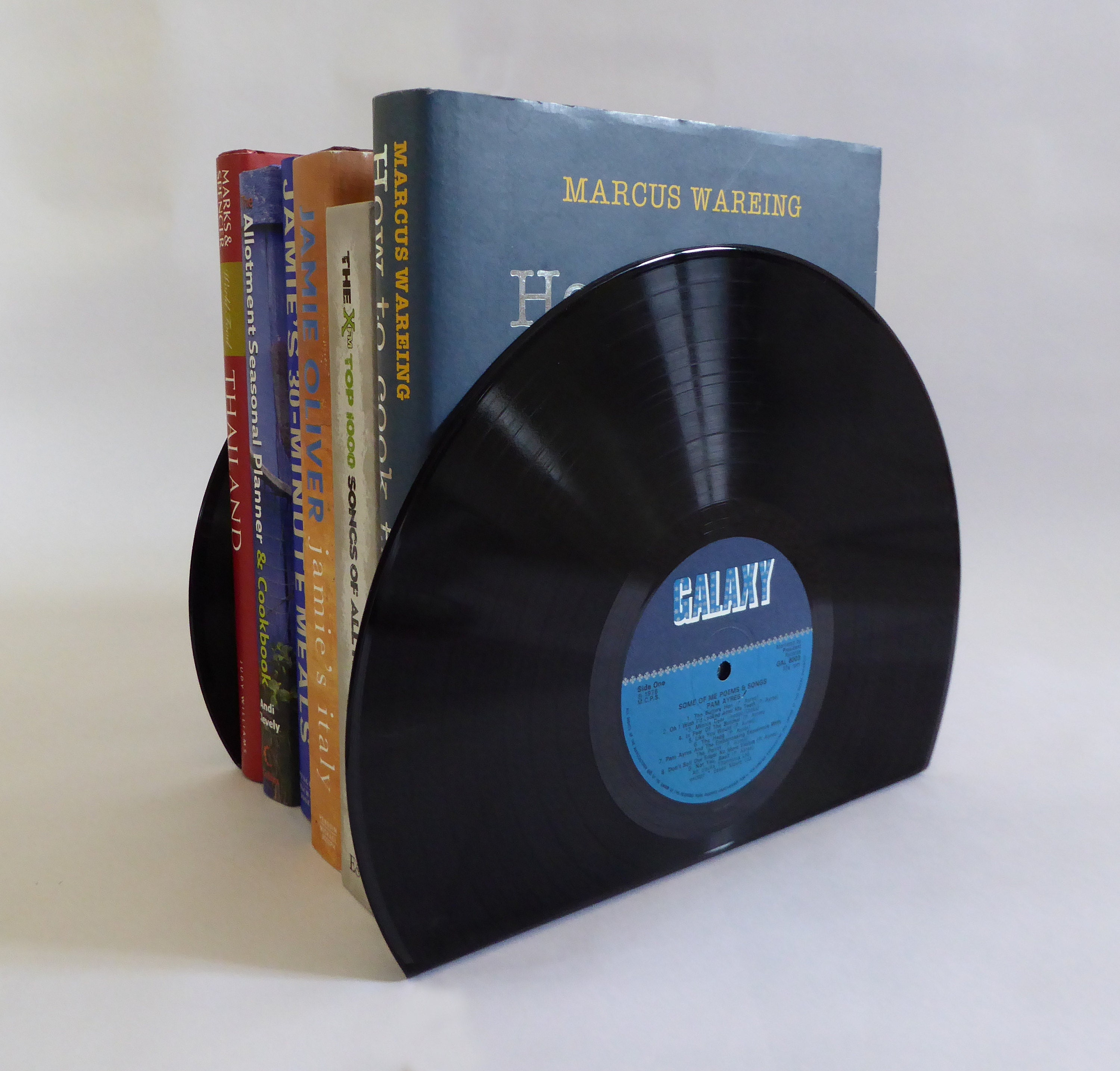 Large Vinyl Record Bookends
