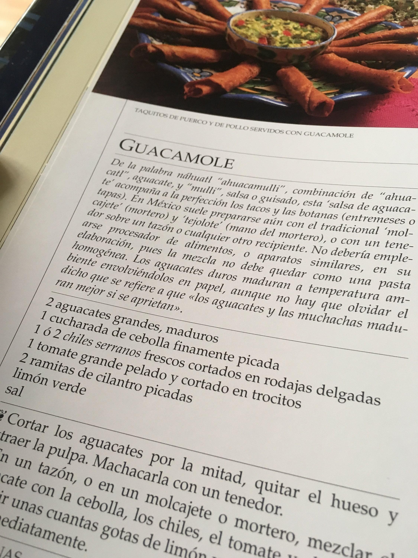 Receta, etimología y foto de un auténtico guacamole.