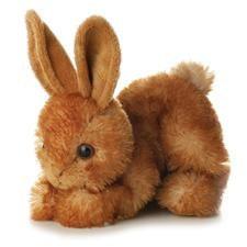 brown stuffed animal bunny for Easter