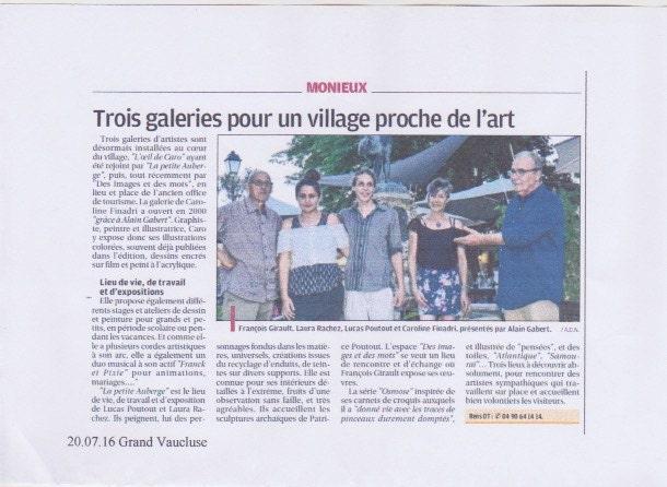 Ateliers dartiste Vaucluse Monieux