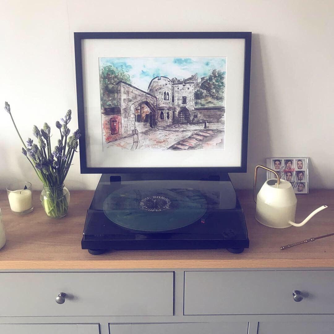 RuthJoyceArt framed home illustration