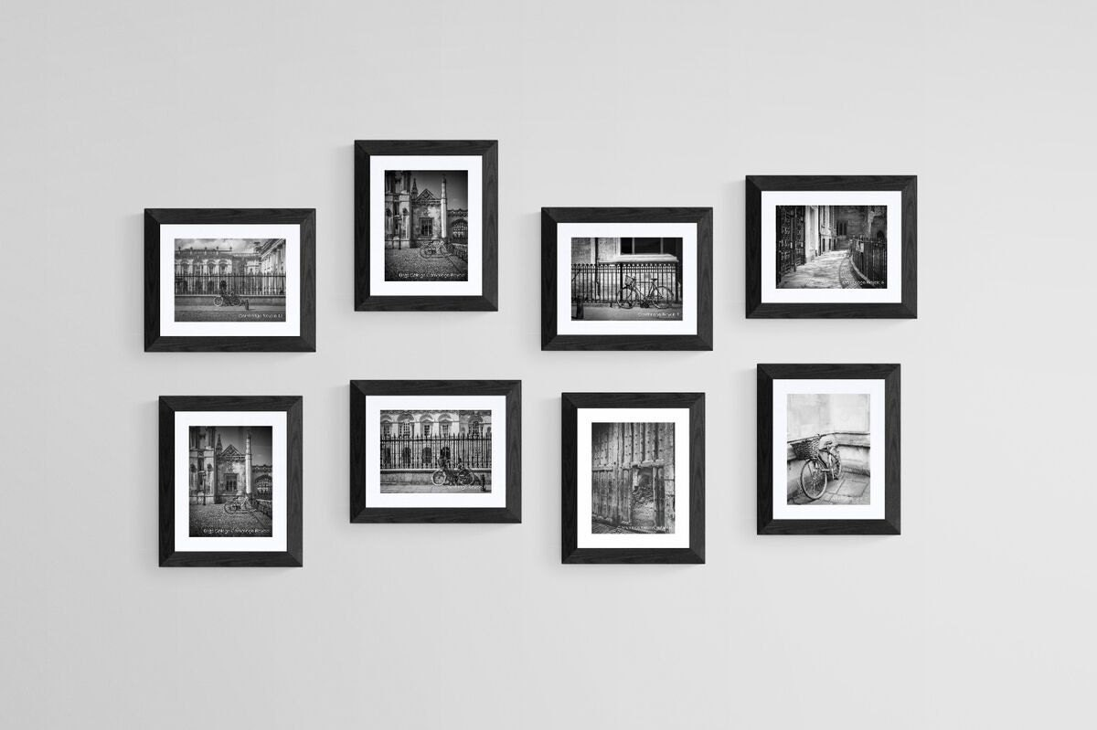 cambridge bicycle wall art and fine art prints- cambridge graduate gifts- black and white in custom sizes and finishes unframed or ready to hang