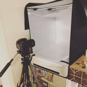light box and camera
