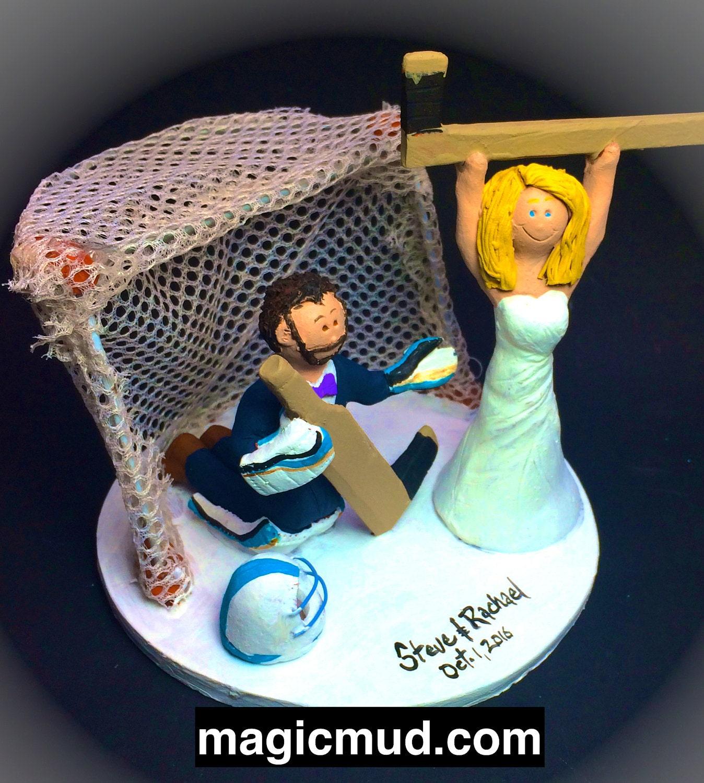 Hockey Goalie Wedding Cake Topper
