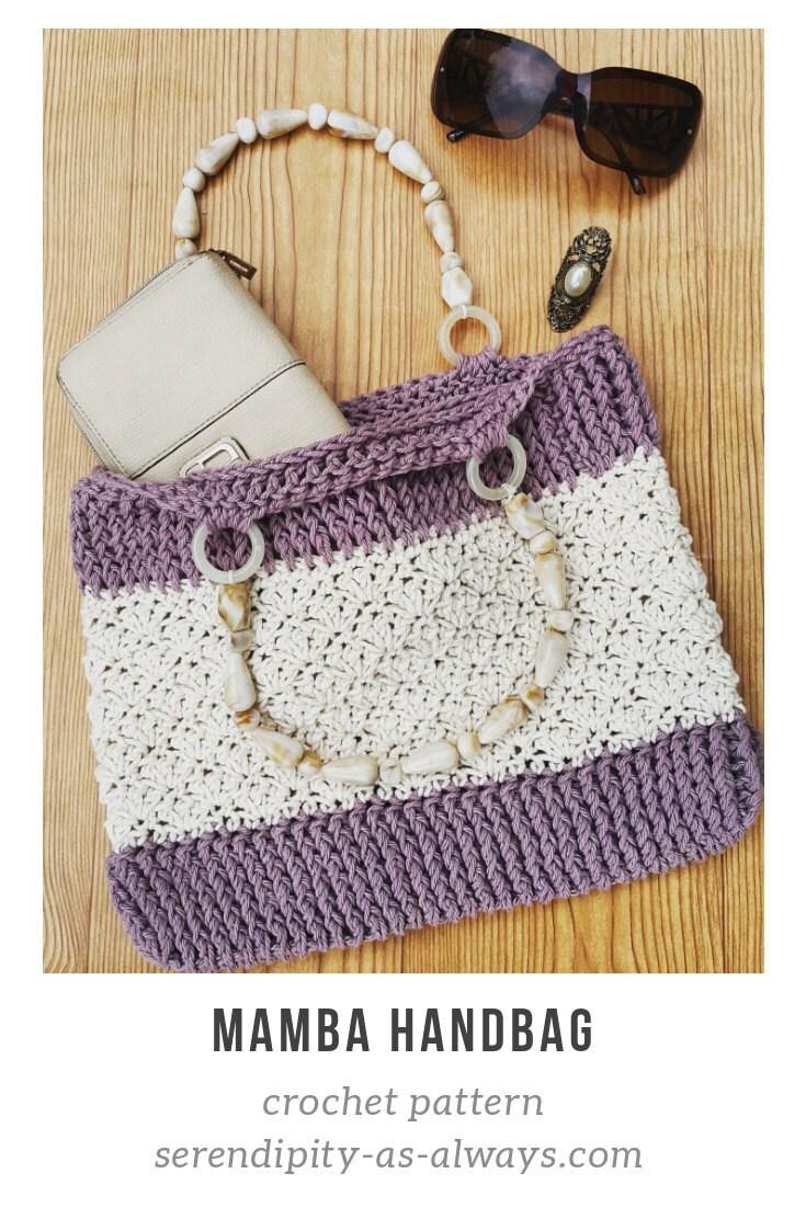 Mamba Handbag Crochet Pattern by Serendipity As Always