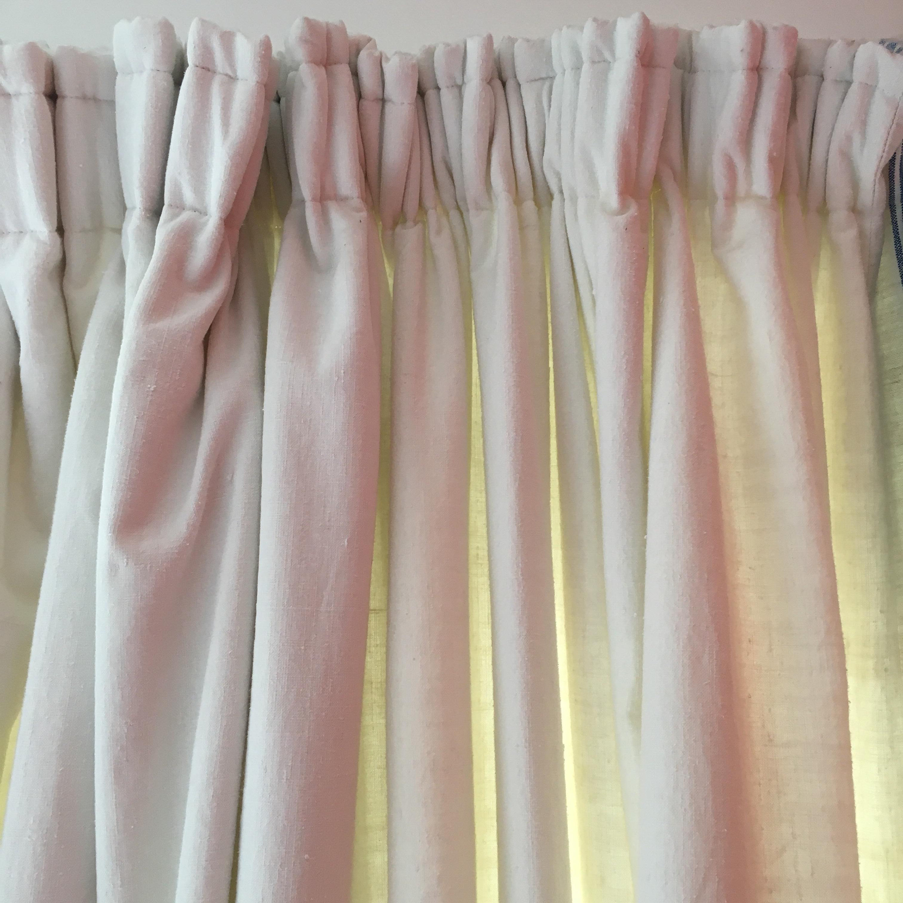 Curtains: made using a vintage linen sheet