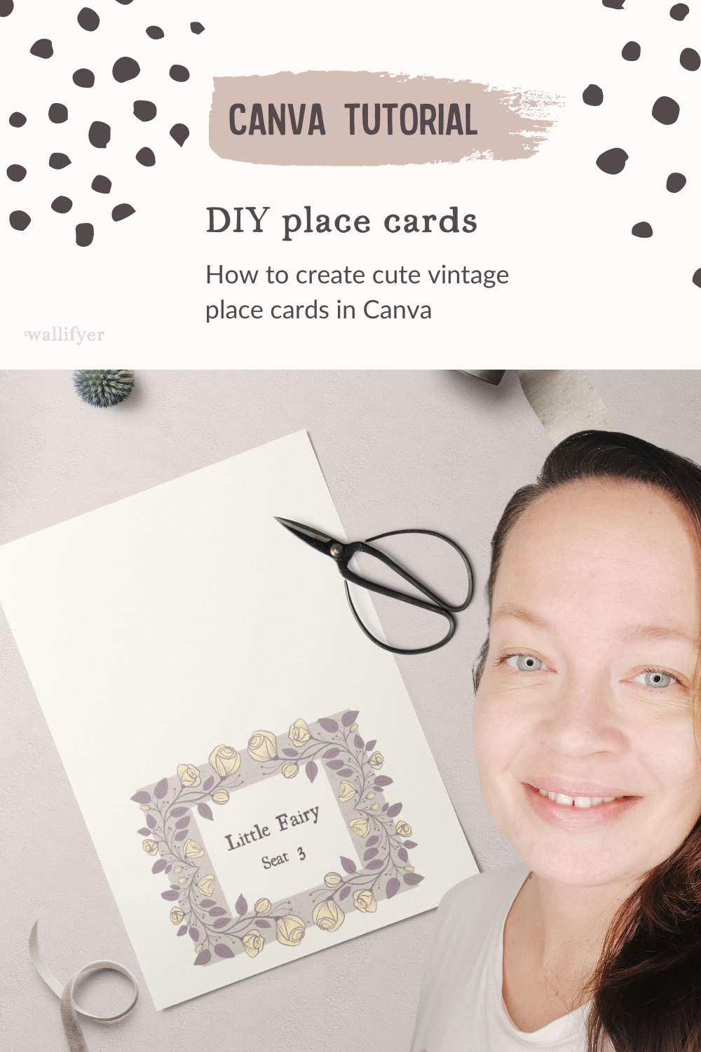 DIY place cards for weddings