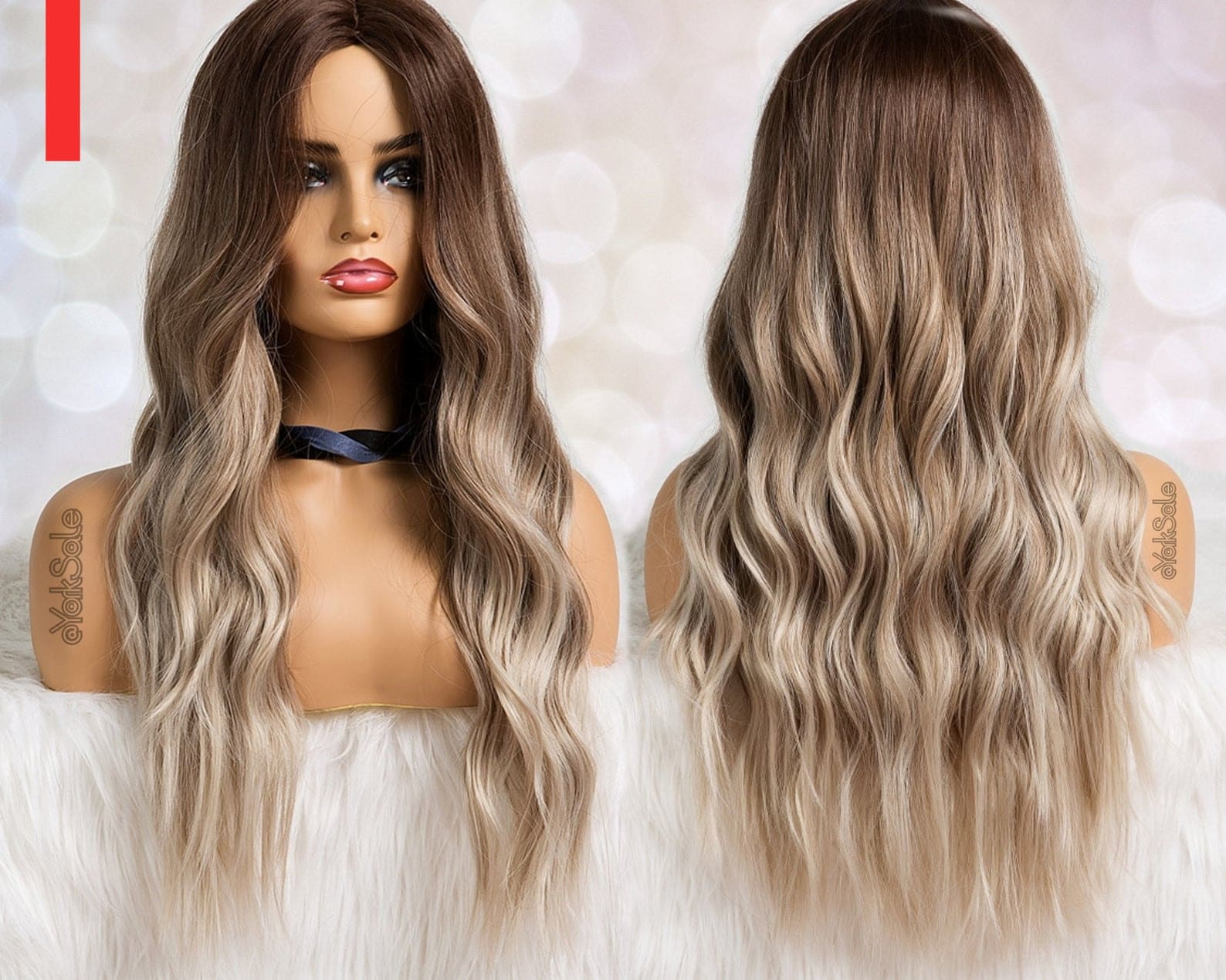 Dark Rooted Ash Blonde Ombre Water Wave