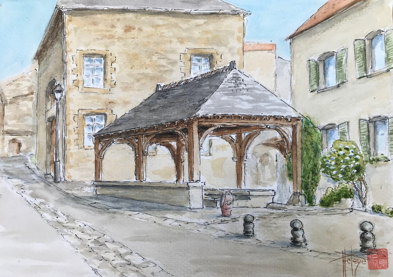 https://helenemiguelpeintre.com/listing/996466913/aquarelle-lavoir-de-merfy-village
