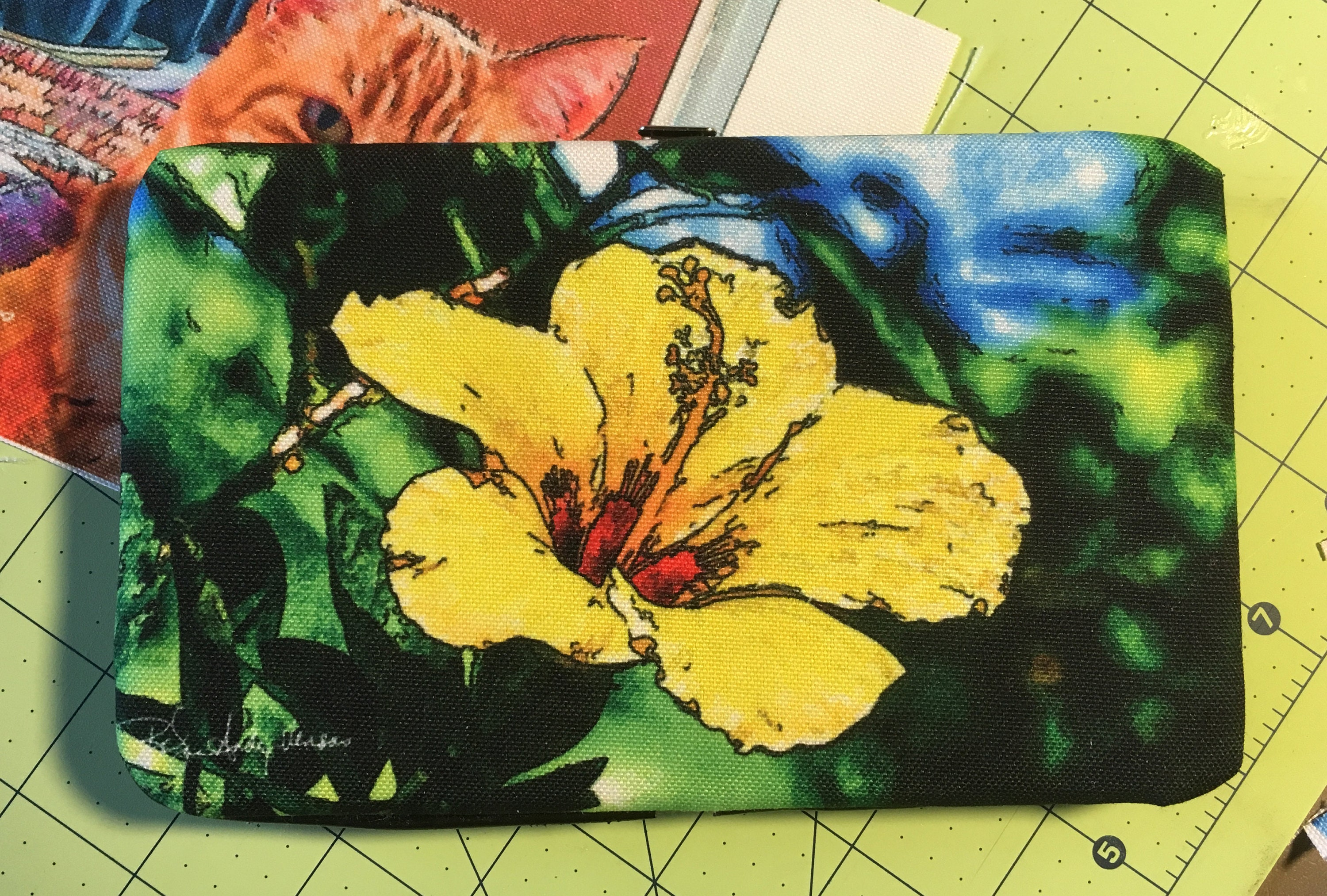 Yellow Hibiscus Wallet