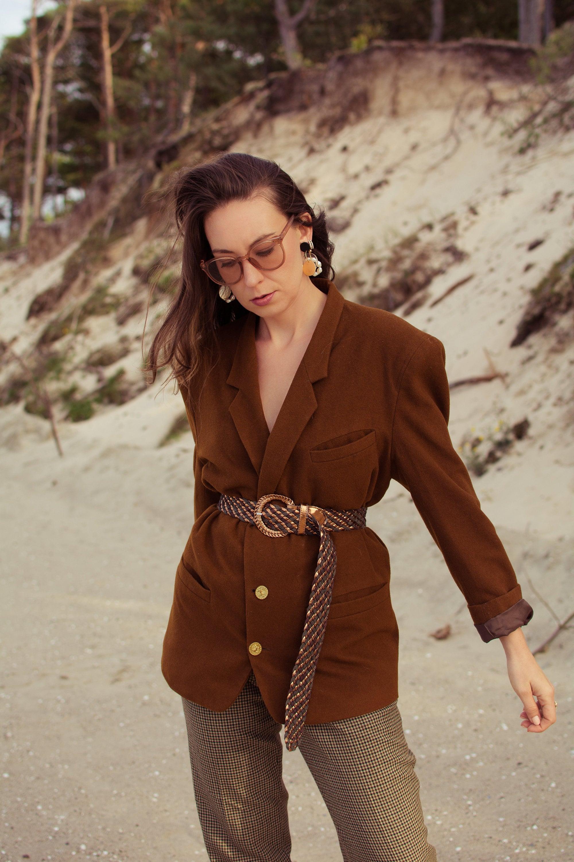 vintage blazer, vintage look, vintage style, vestium vintage look, autumn lookbook