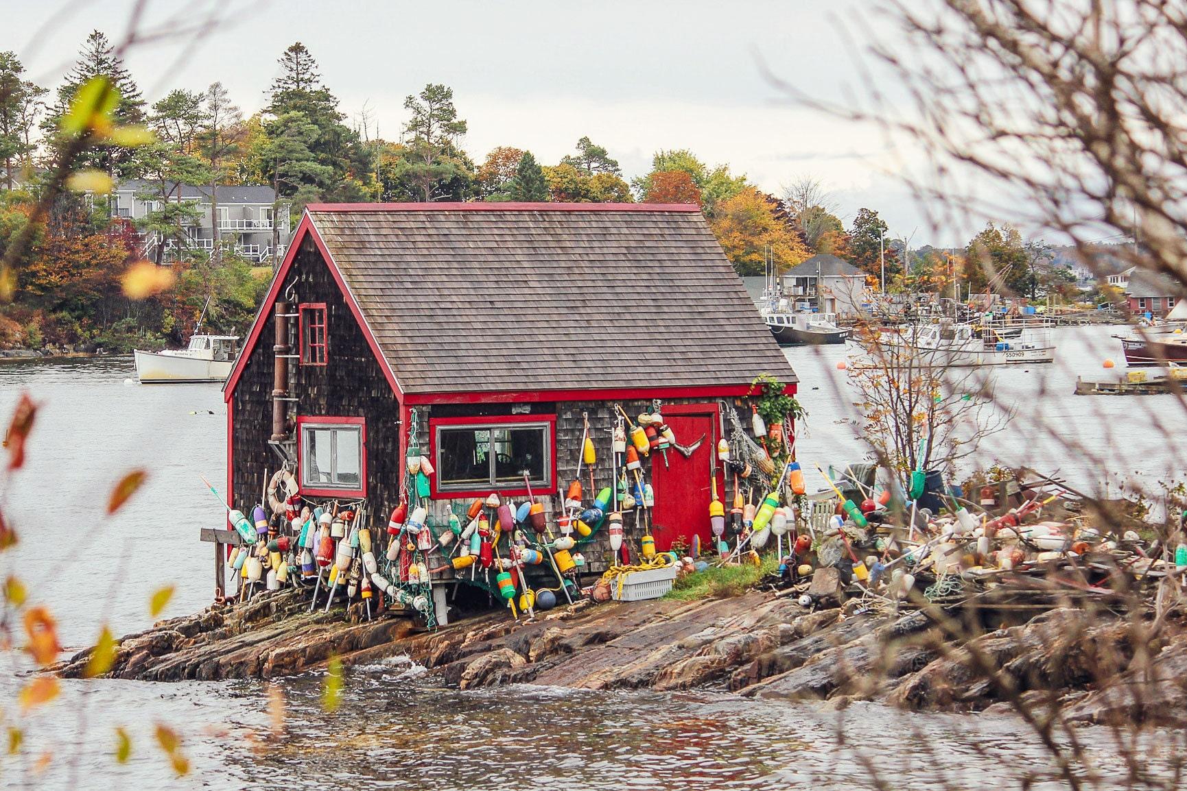 Lobster Buoy covered shack