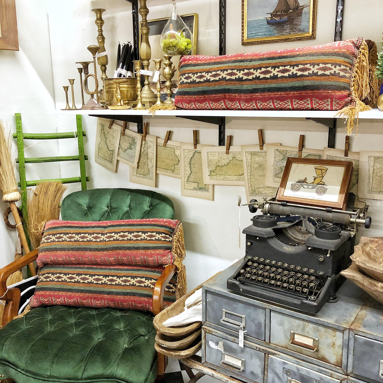Mendez Manor vintage booth at Pomona Antique Mart