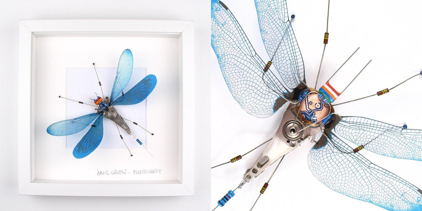 Recycled Computer Art Bugs by David Wright