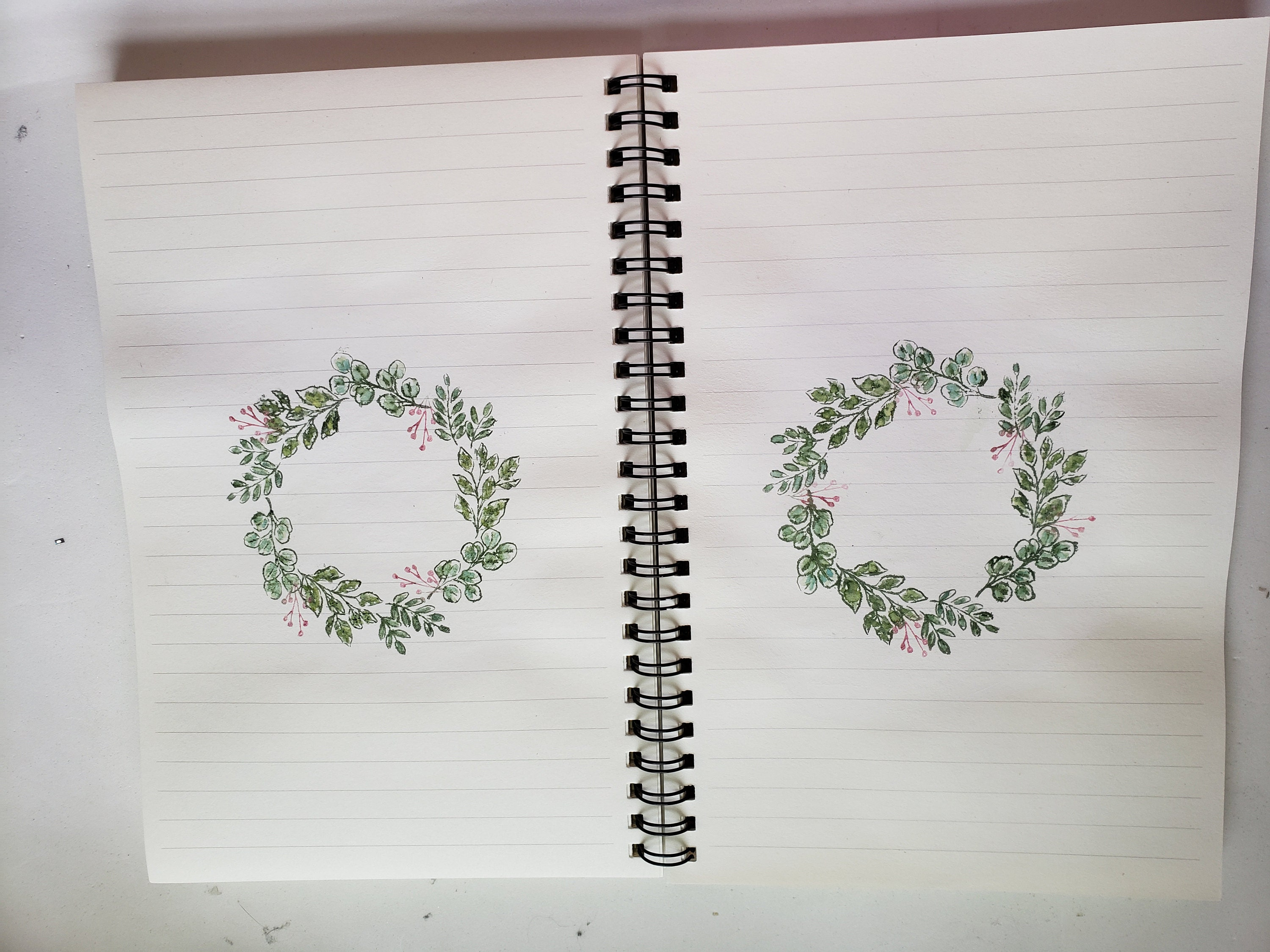 Wreath double page spread