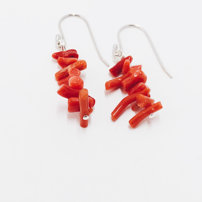 Pendientes color coral