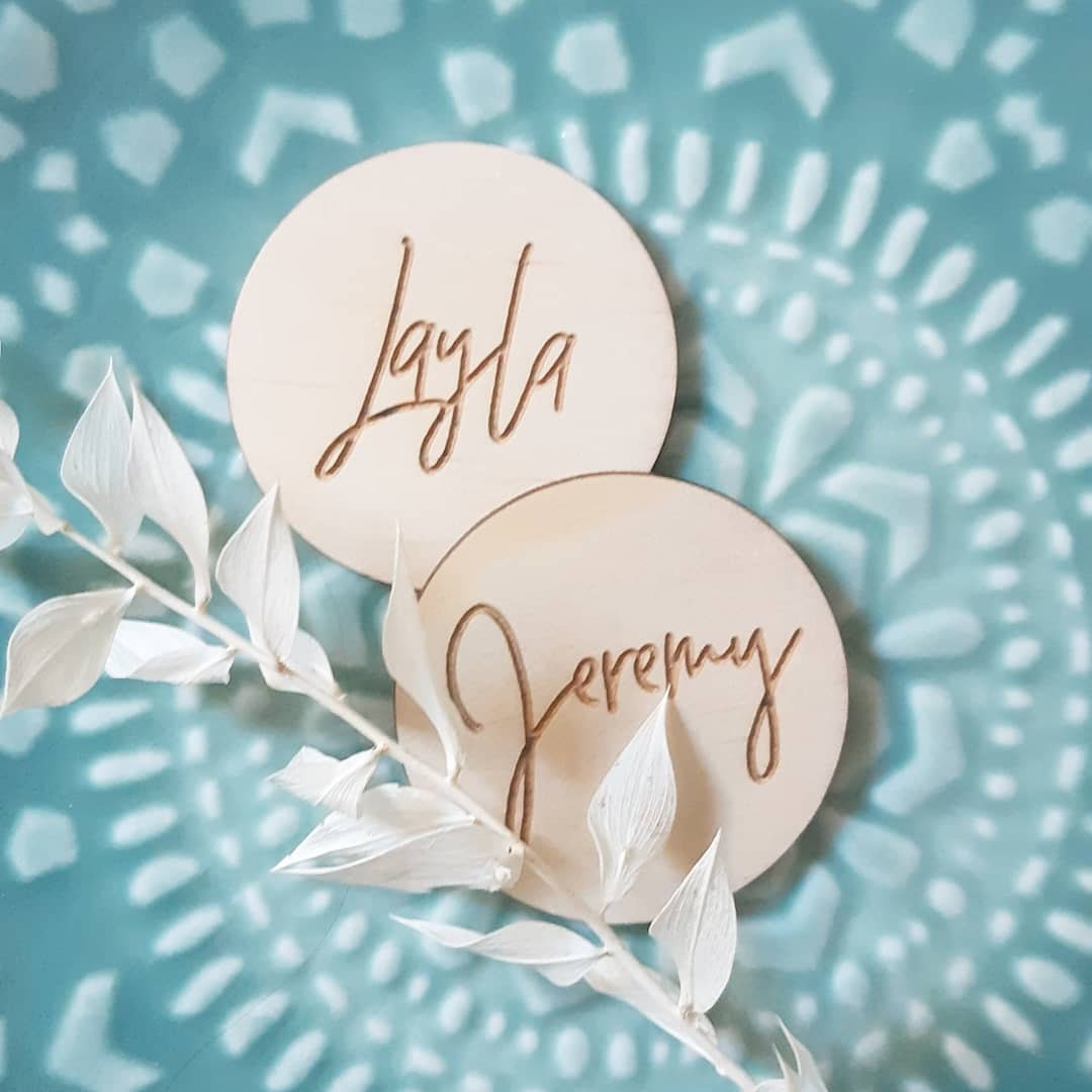 Wooden placecards