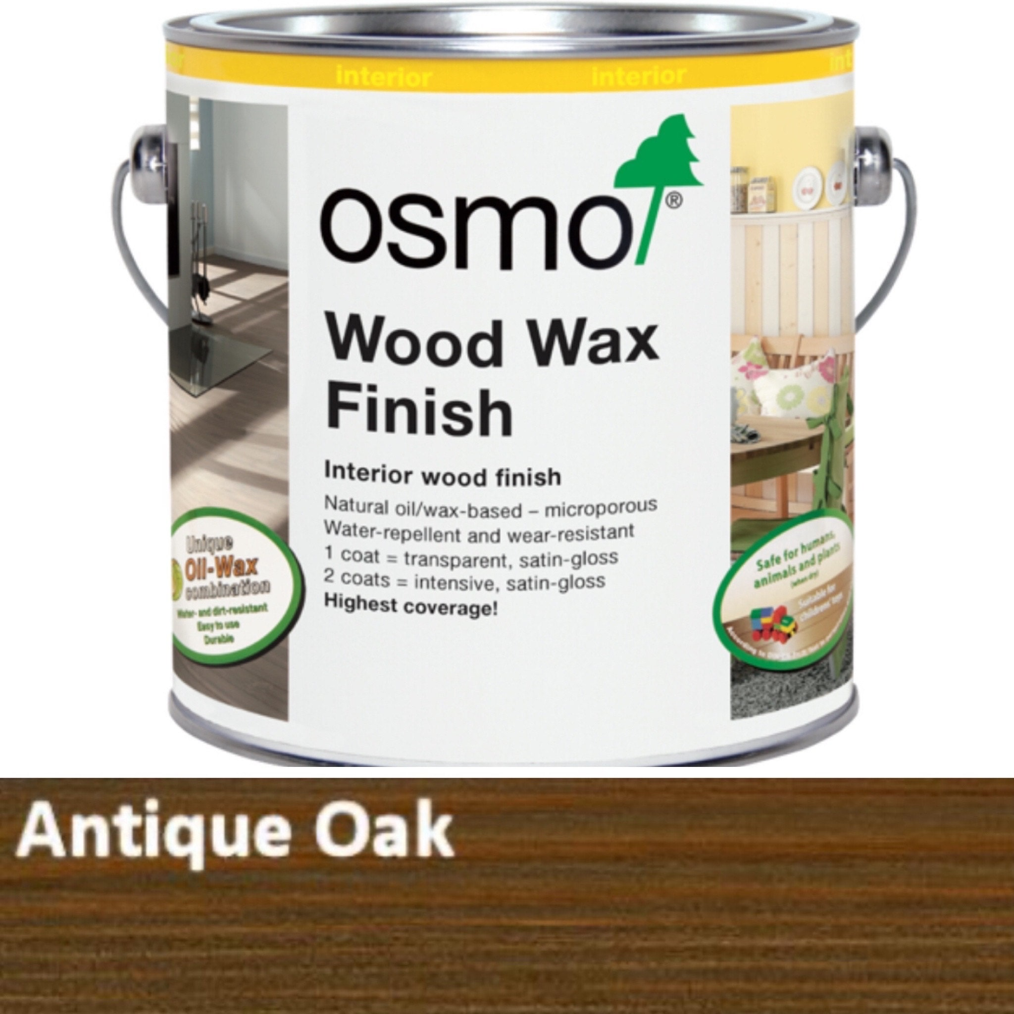 Osmo dark oak wax oil Gorlech key racks