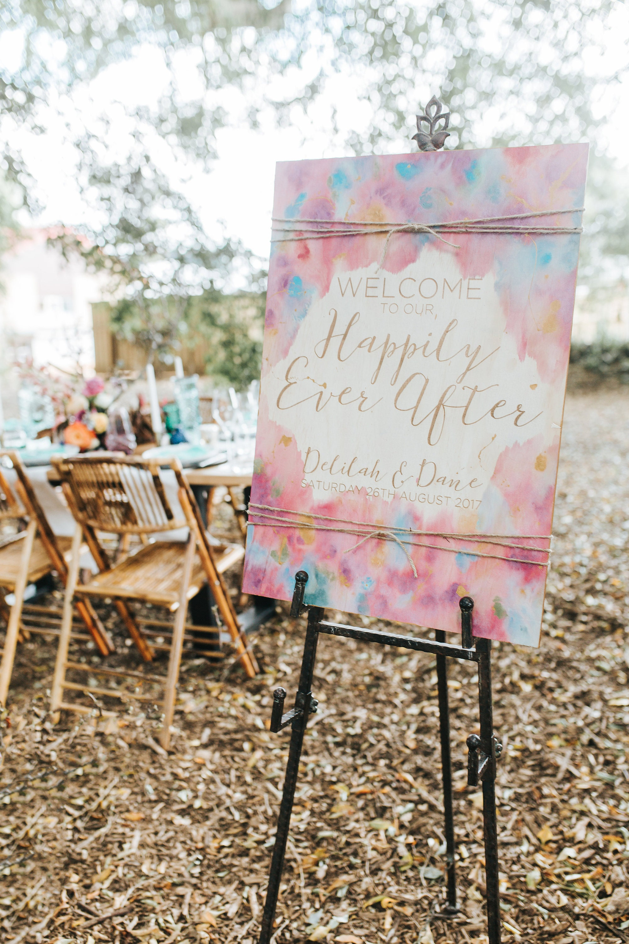 Bohemian Wedding Sign