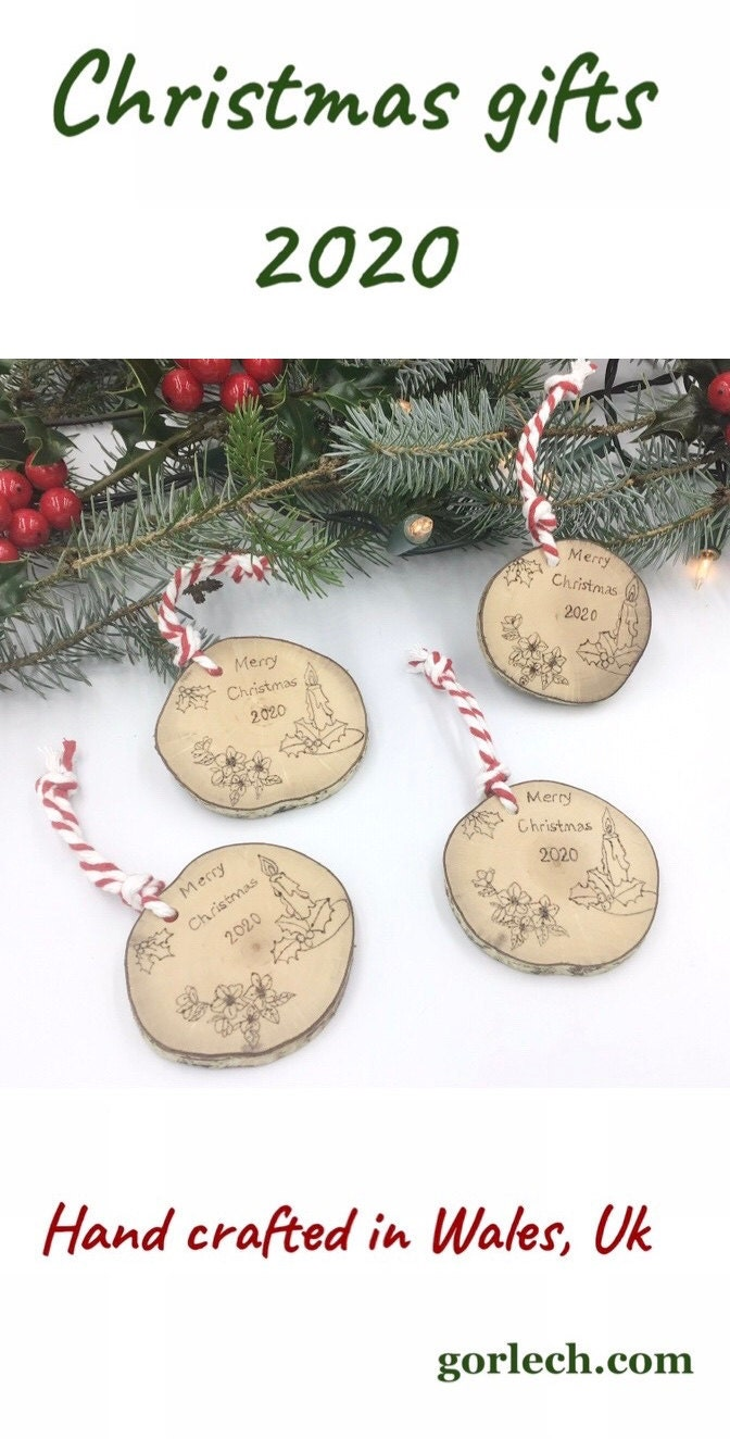 Christmas 2020 tree ornaments - gorlech.com (West Wales, UK)