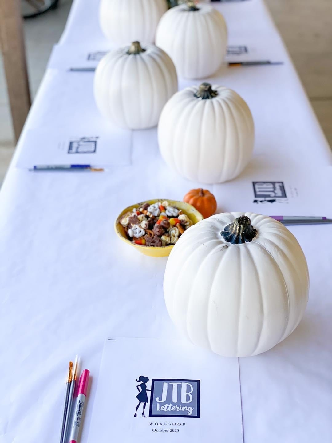 Table Setting with pumpkins