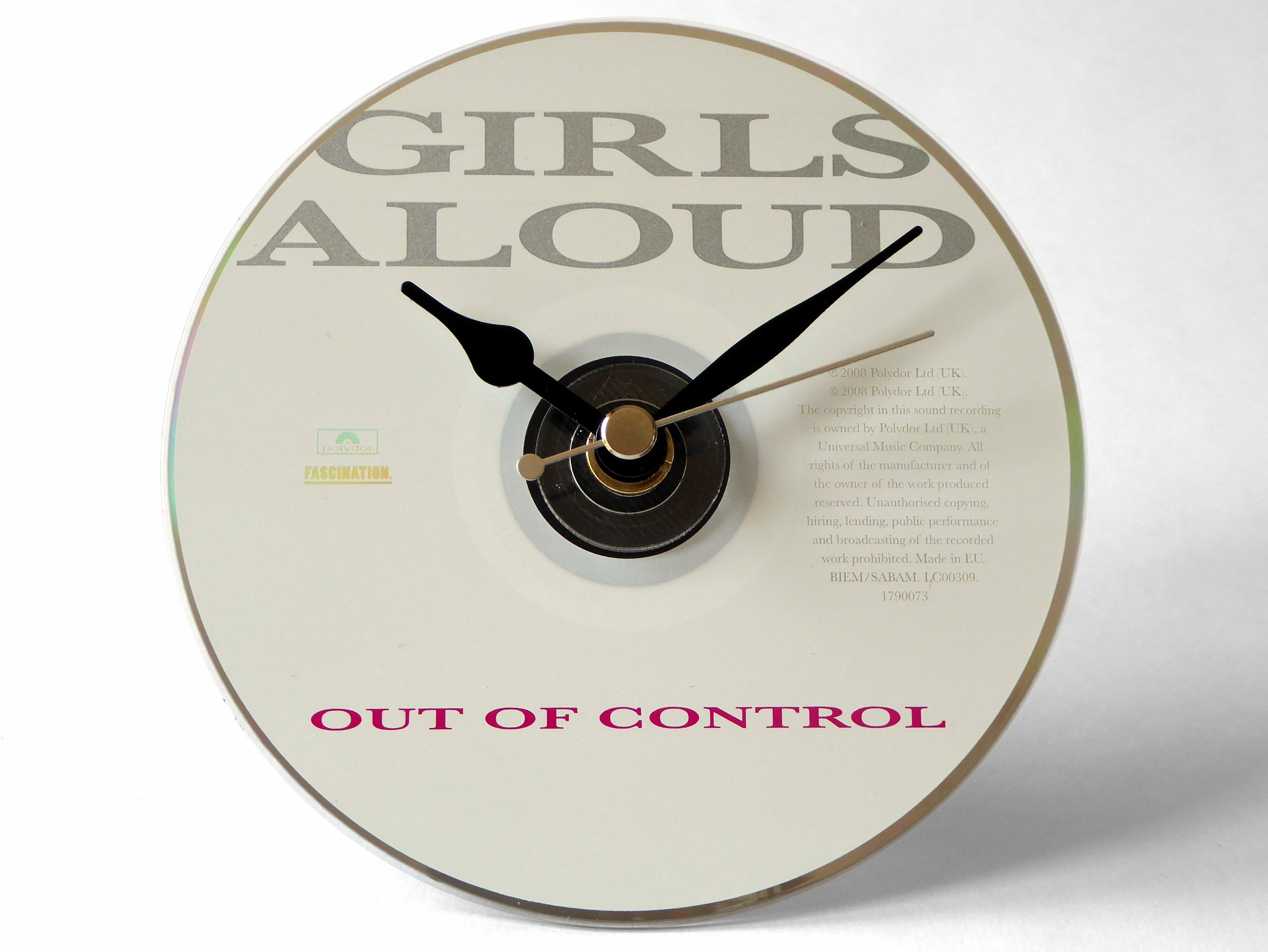 Girls Aloud Out Of Control CD Clock and Keyring Gift Set