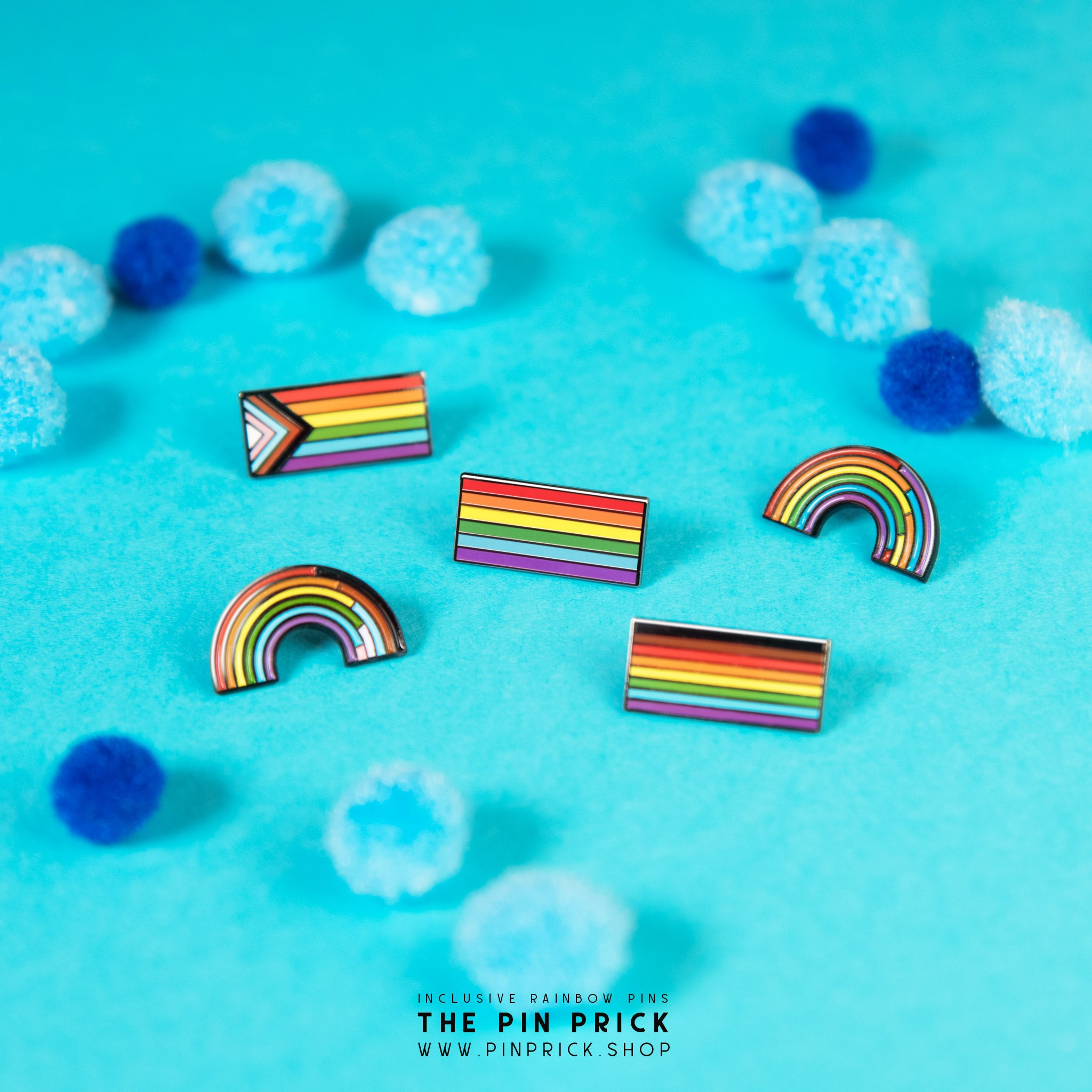 Inclusive Gay Pride Rainbow Flag Enamel Pin Accessories