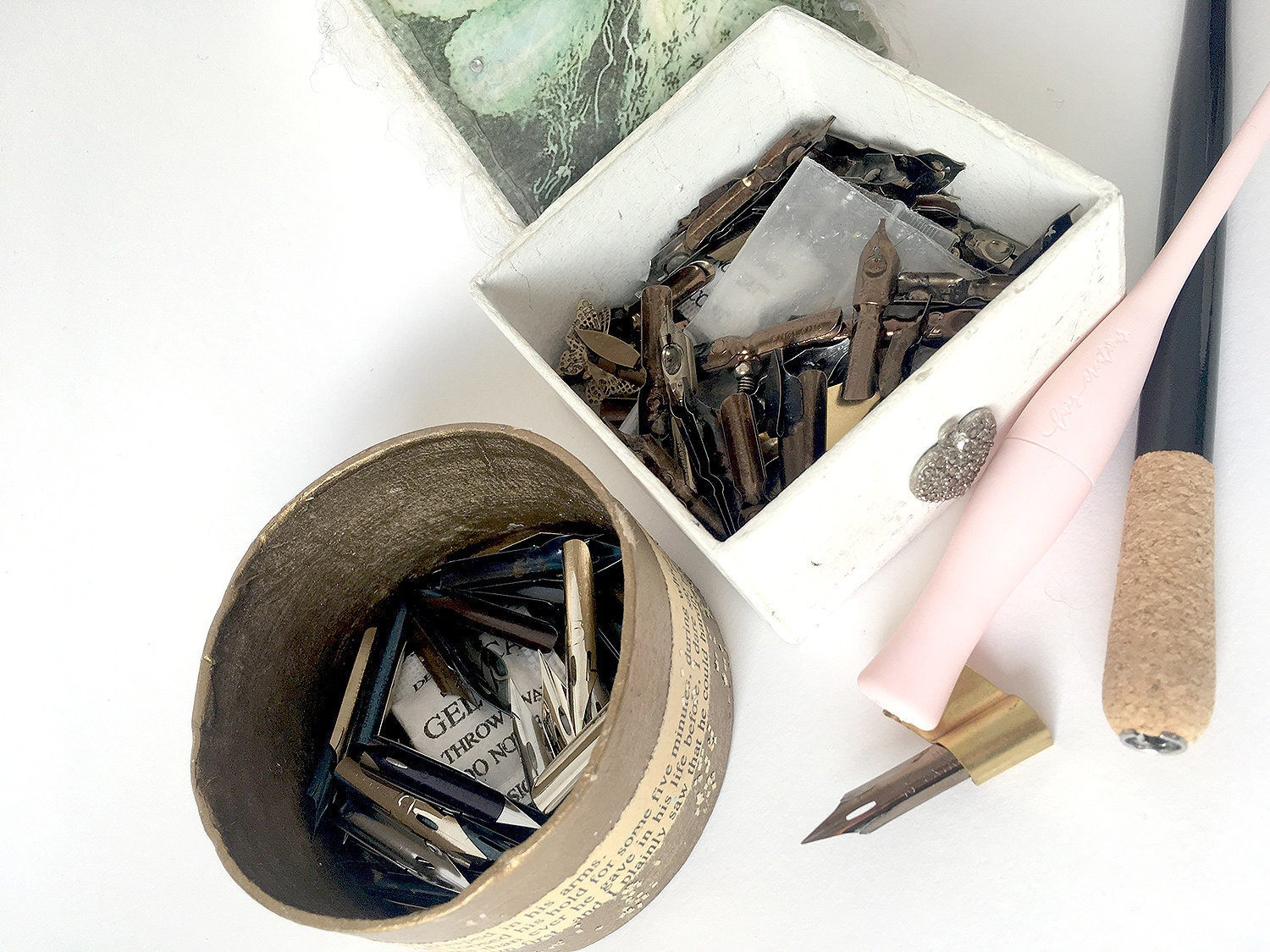 calligraphy nib containers real life prevent rust